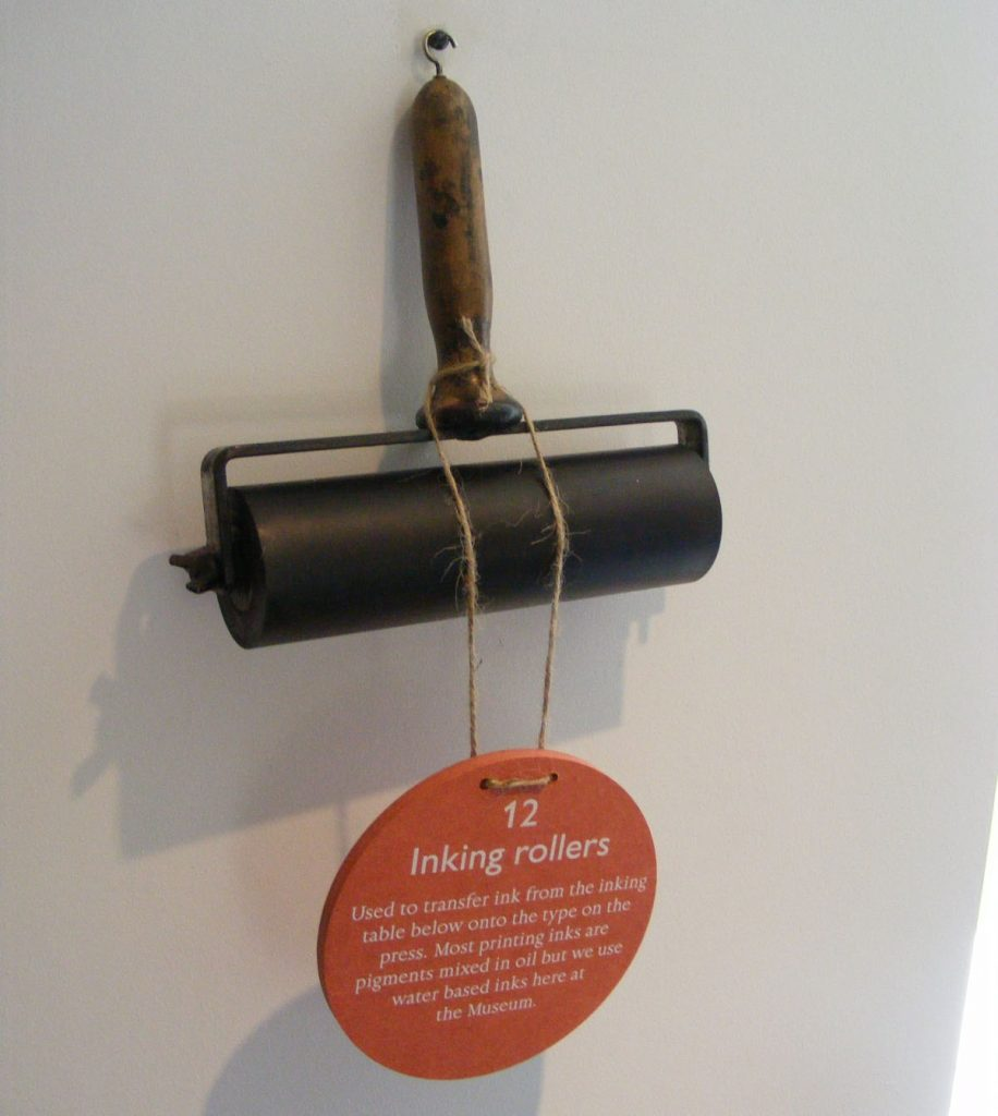 A photo of a printing roller