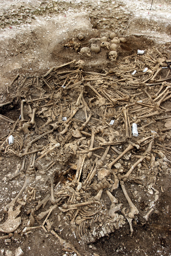 The grave was excavated during the creation of the Weymouth Relief Road, in the build-up to the 2012 Olympic Games © Oxford Archaeology