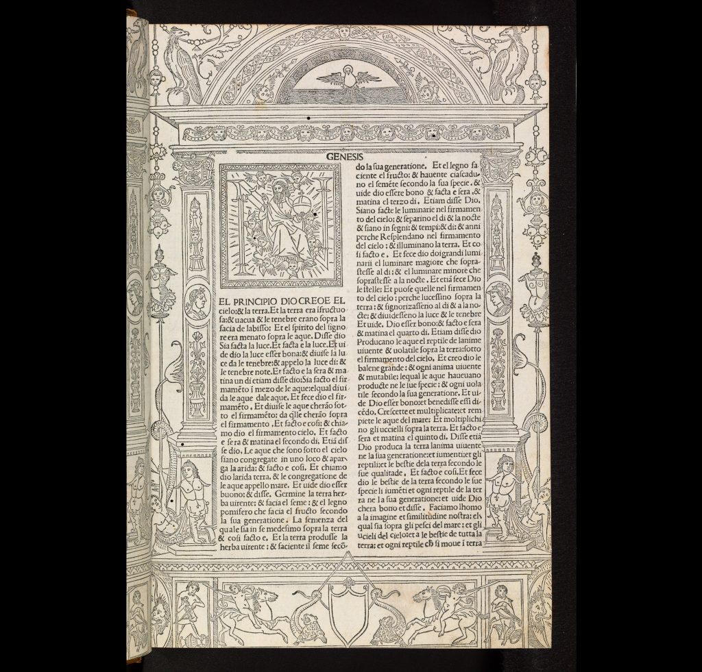 a photo of a page of illuminated text