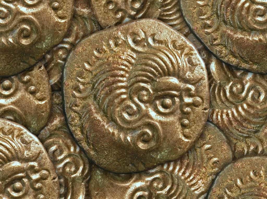 Detail from the coin hoard