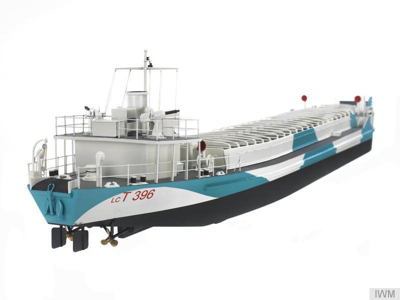 A scale model of a landing craft