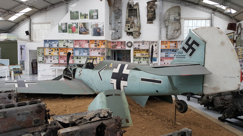 A wreck of a Nazi Plane within the Museum
