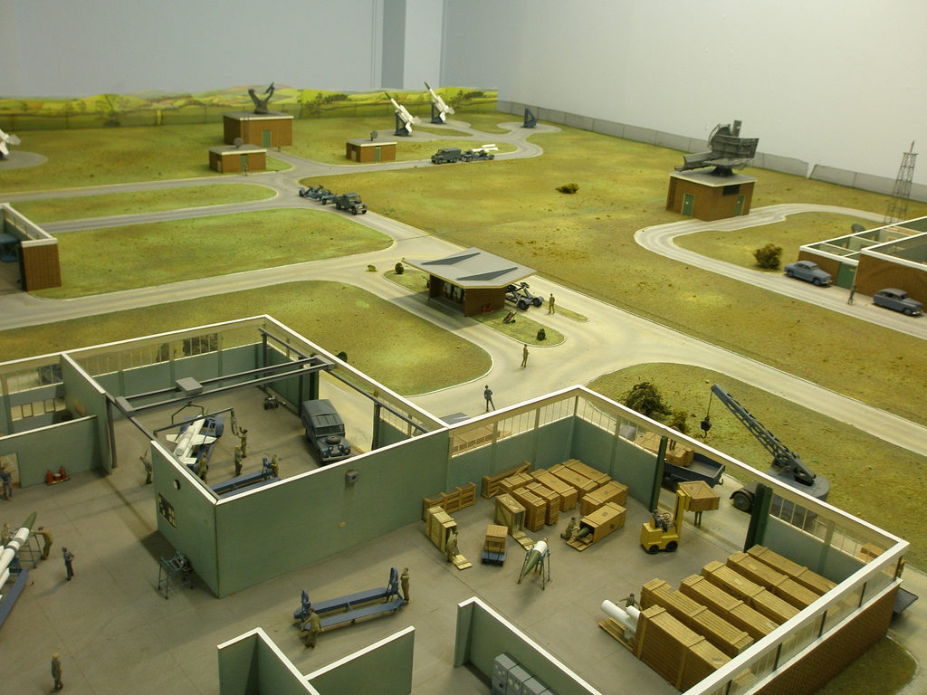 A model of the grounds at Neatishead