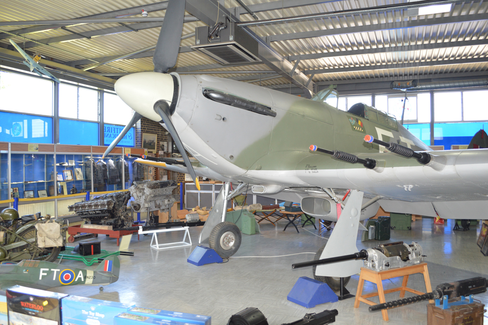 A Spitfire plane within the museum