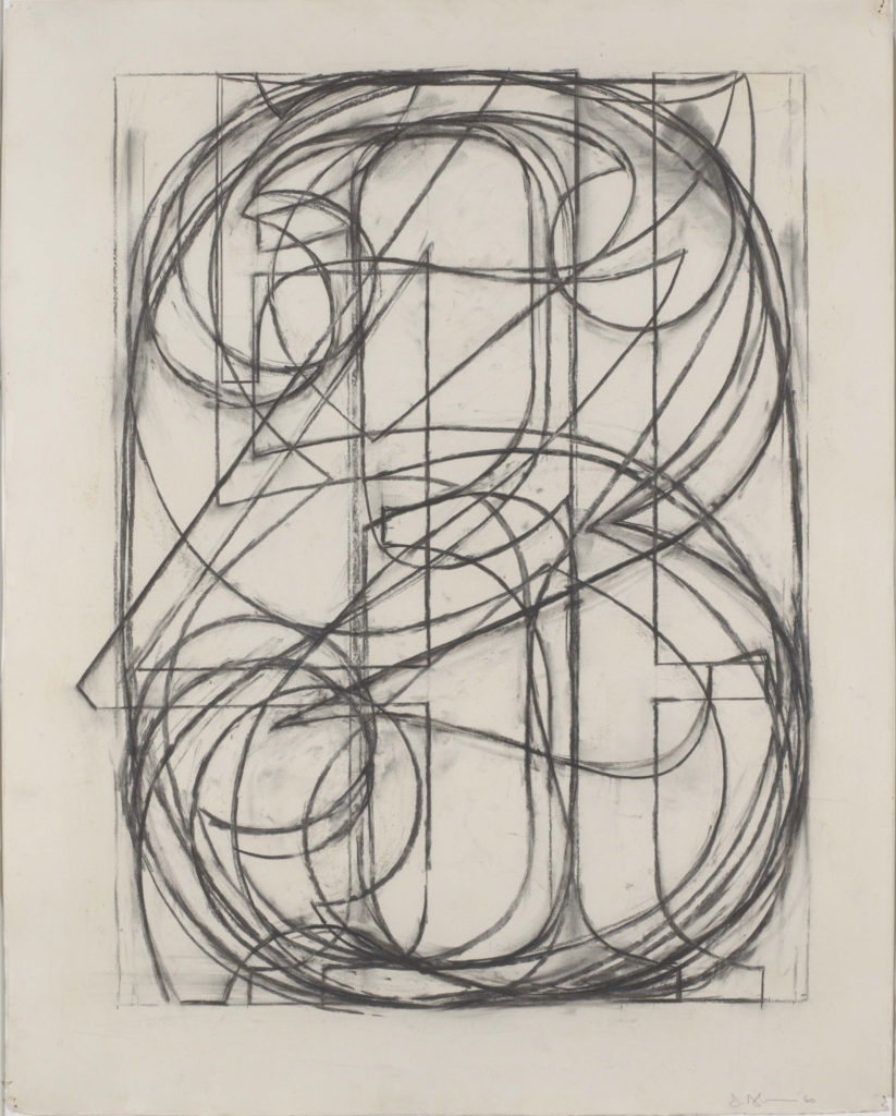 charcoal drawing on paper of all numbers 0-9 laid on top of each other