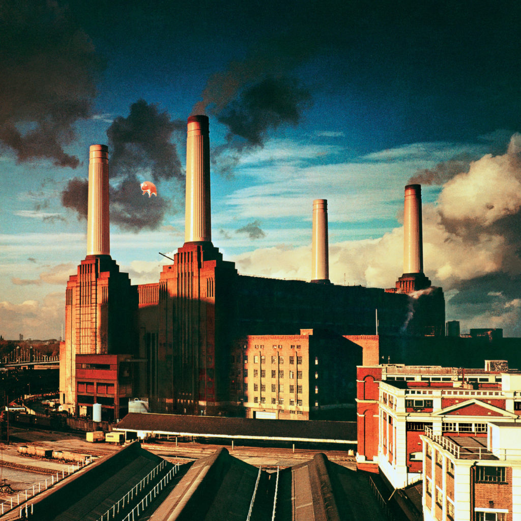 image showing pig floating over battersea power station