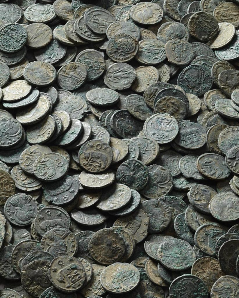 a photo of a hoard of coins