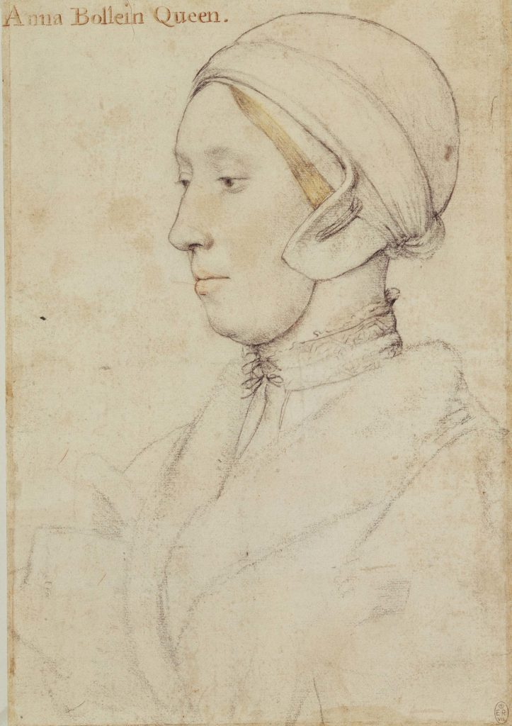 a setched ortrait of a woman wearing a close fitting cap