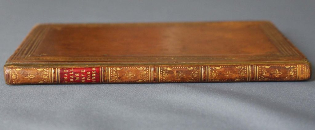 a photo of a leather bound book seen from its spine
