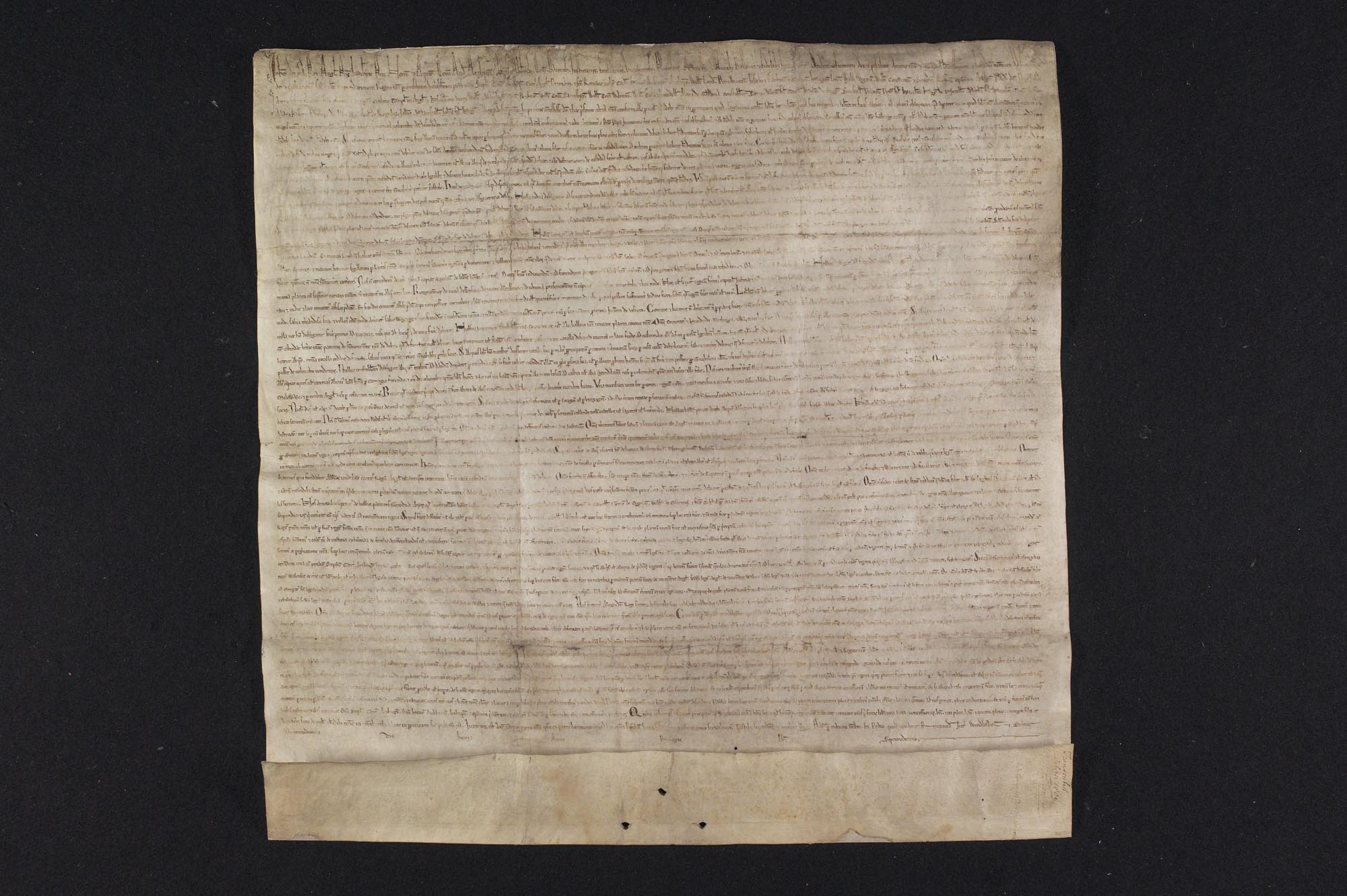 a photo of a handwritten document in Latin