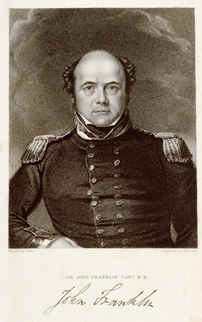 a printed postcard of a man with a bald head in naval uniform