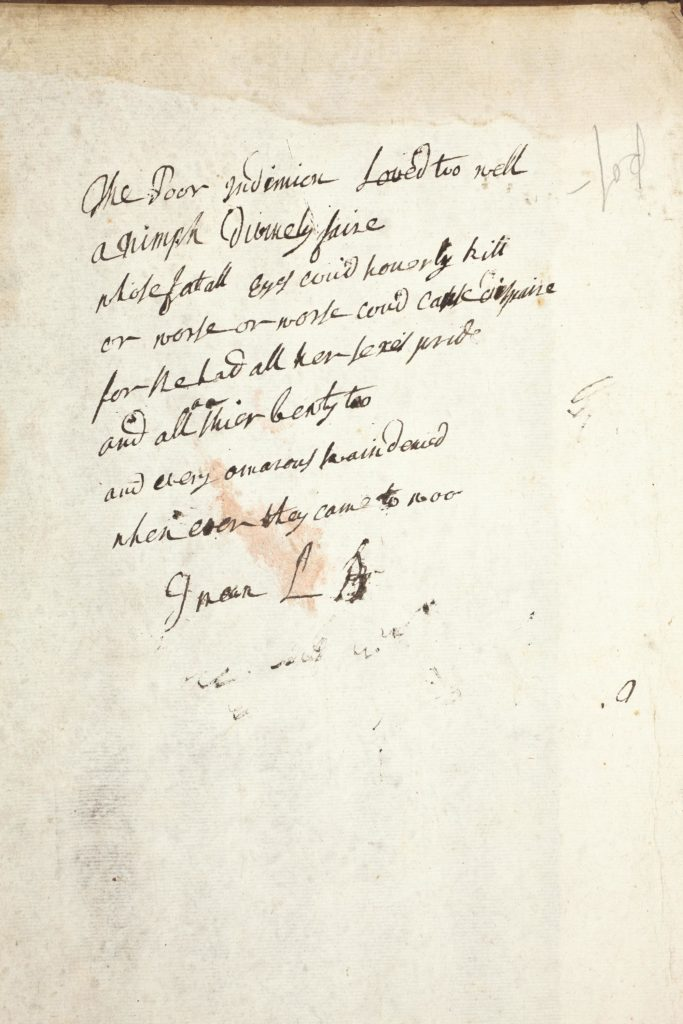 an inside of a book cover with an inscription