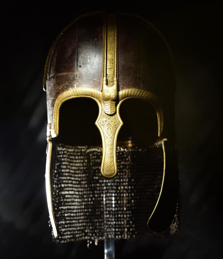 a photo of a helmet with a nose guard