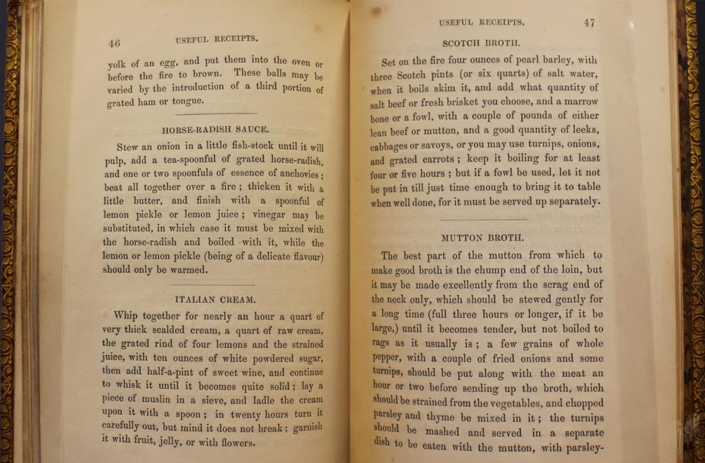 a photo composite showing two pages of a recipe book