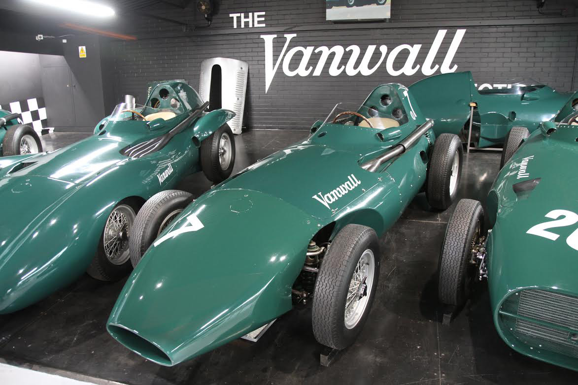 a photo of an old green racing car