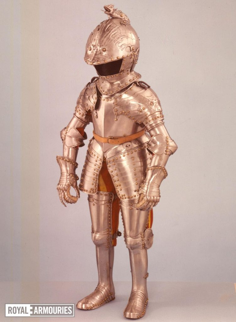 a photo of a small child sized set of full armour
