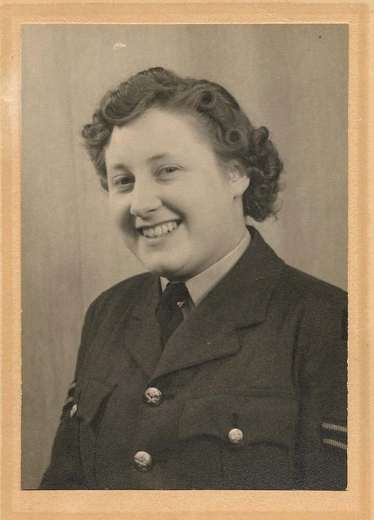 a portriat photo of a young woman in an RAF uniform