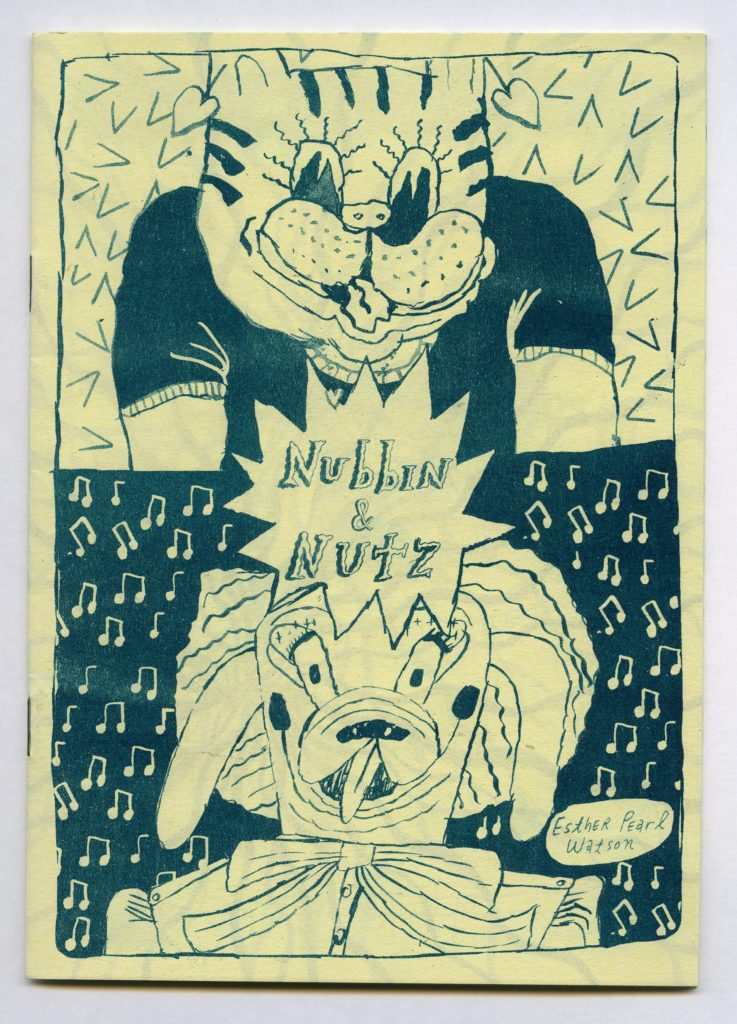 a zine with two cartoon creatures on the cover