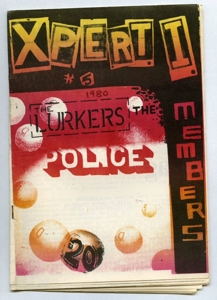 a colur zine cover with band names on it and a price of 20p.