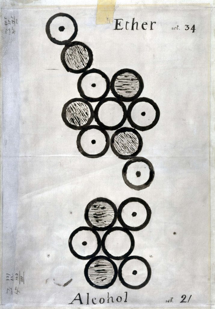 a drawing of a series of concentric balls