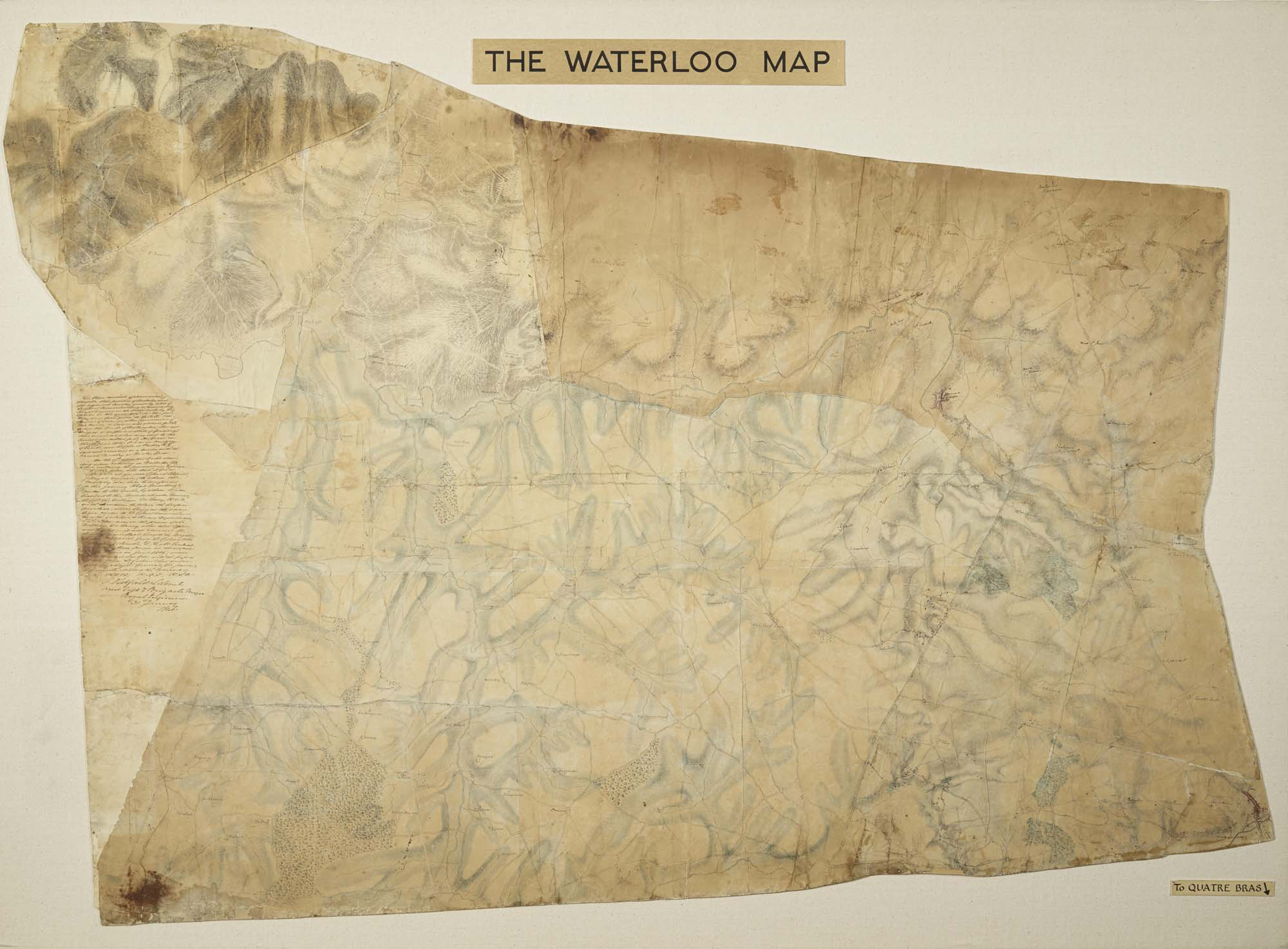 a photo of a faded map on parchment