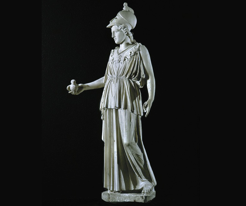 photograph of statue of athena