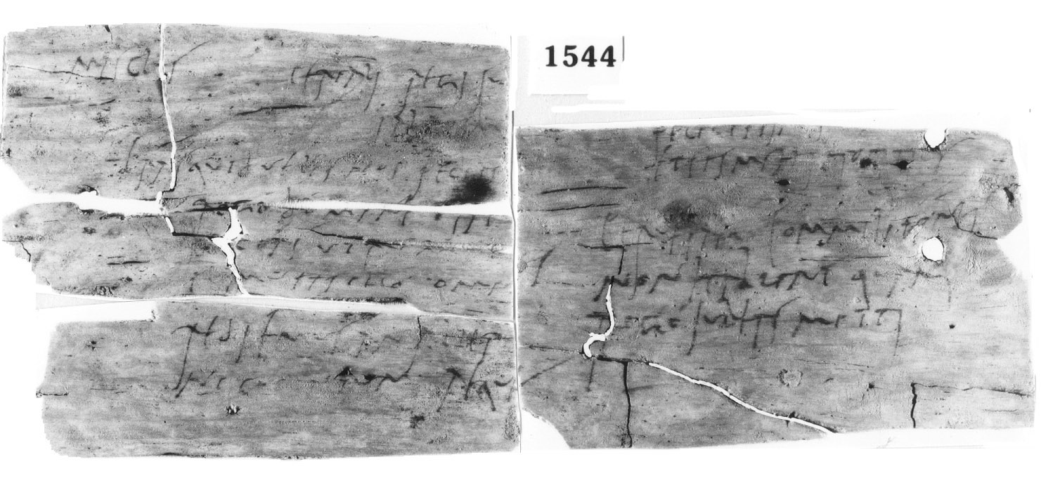 a scan of a letter with Roman Latin writing on it
