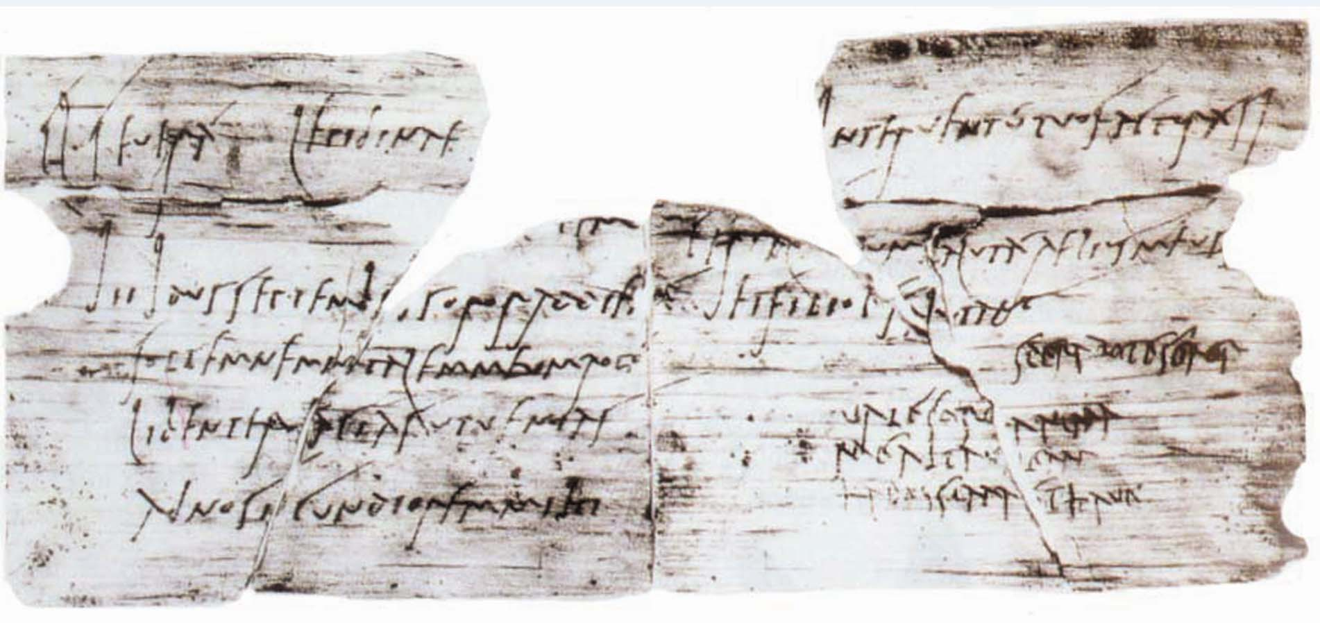 a scan of latter with fragments of Latin on it