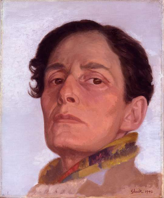 painted portrait of woman in masculine clothing and pose