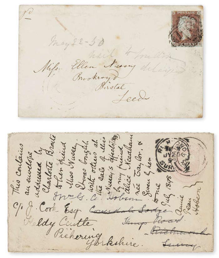 a photo of a letter and envelope