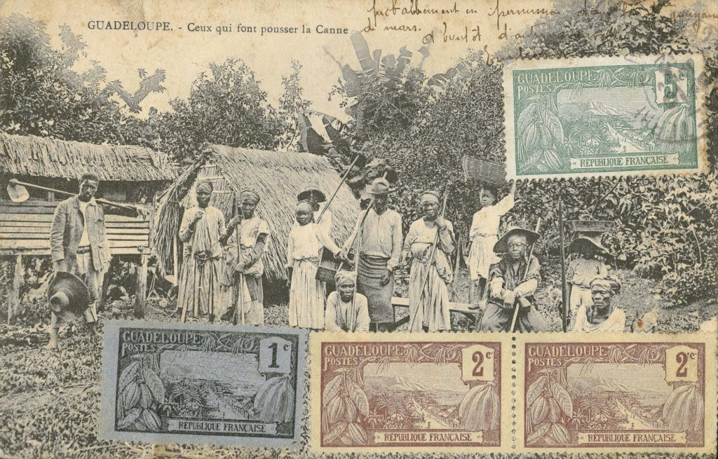 A photo showing a group of Afro-Caribbean sugar-kane workers