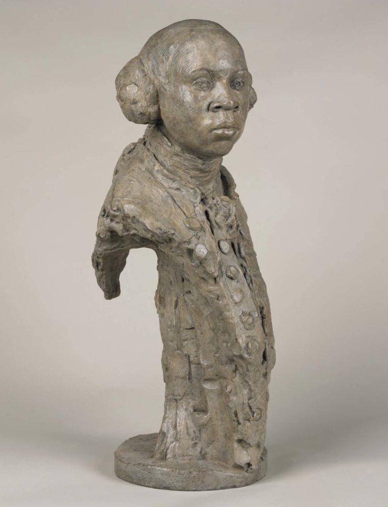 a sculpture of Olaudah Equiano