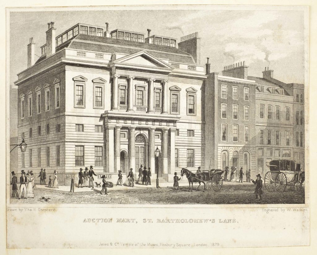 a print of a Georgian Portico fronted building