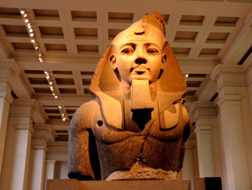 photograph of large Ancient Egyptian statue of Ramesses II