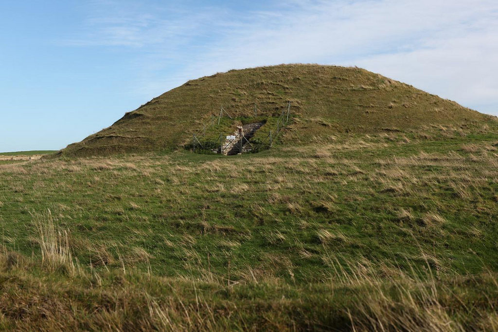 photograph of ancient burial mound