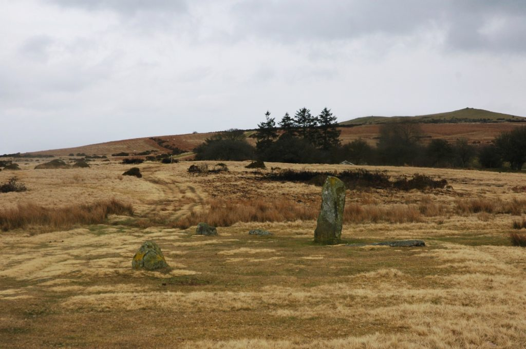 photogrpah of rugged landscape with collection of standing stones