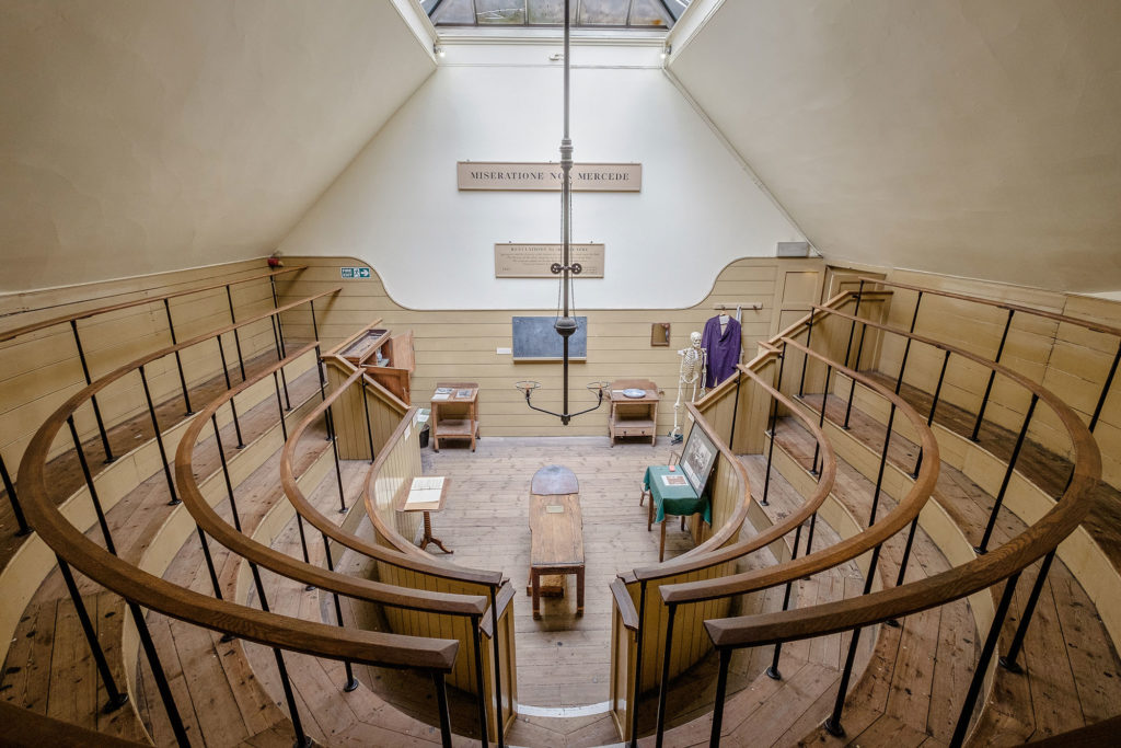 photograph of interior of nineteenth century operating theatre