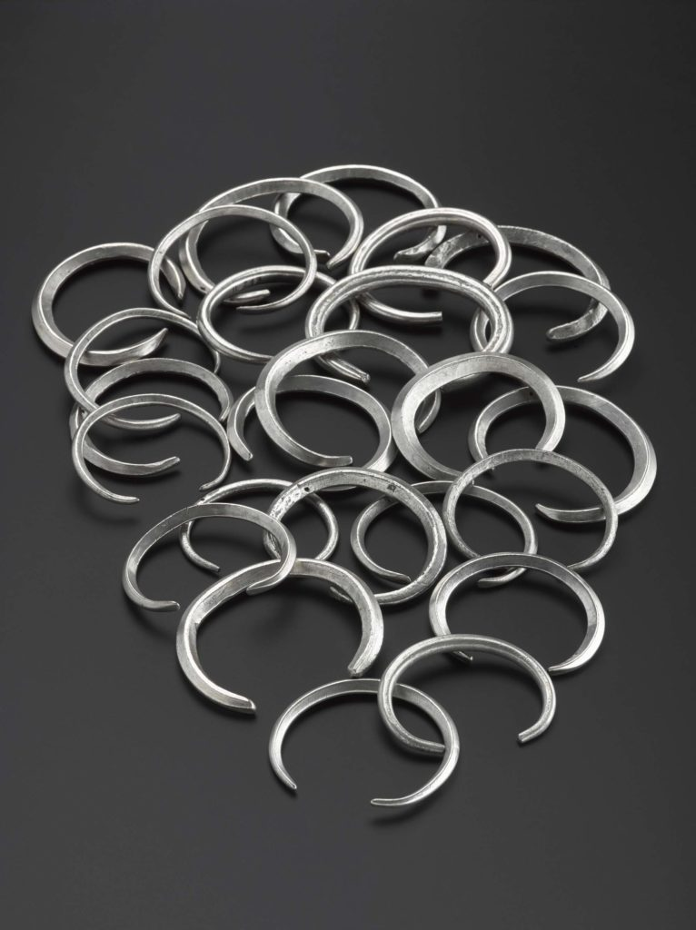 a photo of a set of silver rings