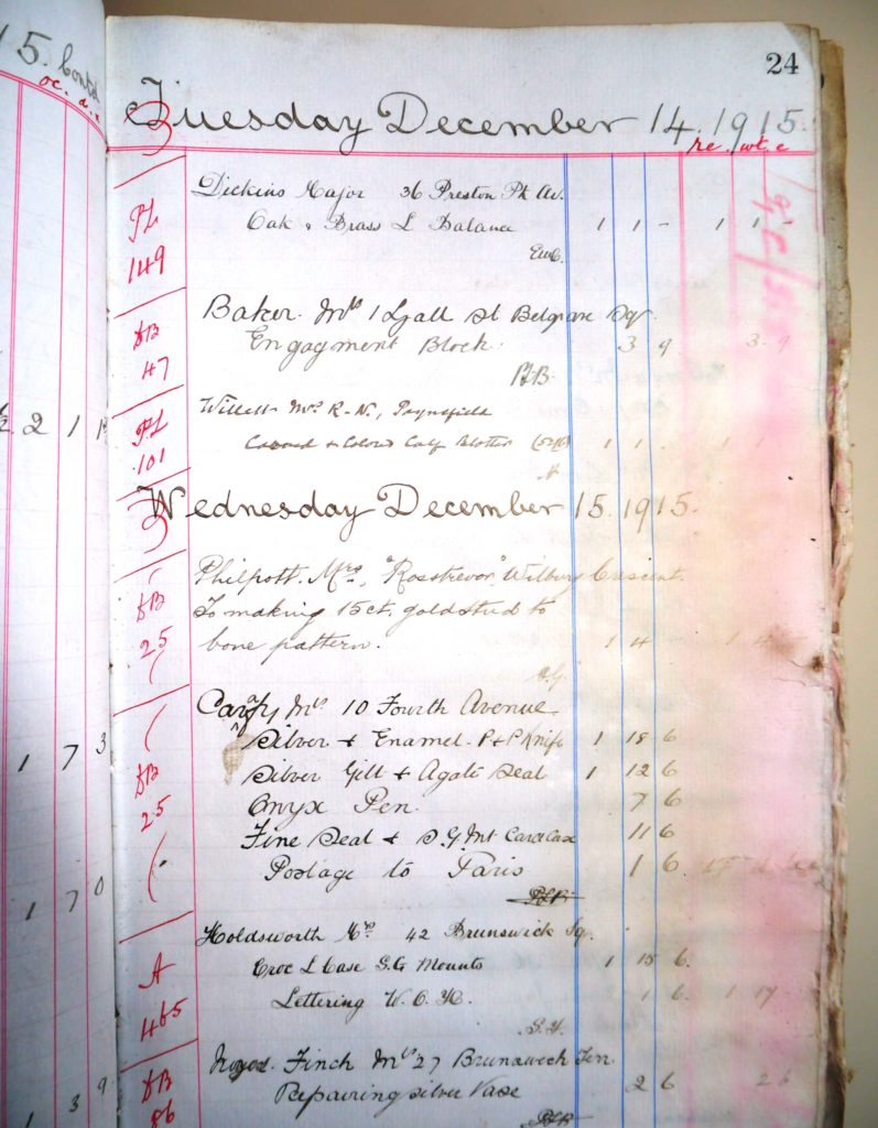a photo of a ledger entry with writing in it