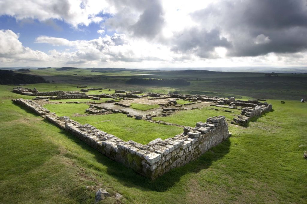 photograph of Roman fort ruins