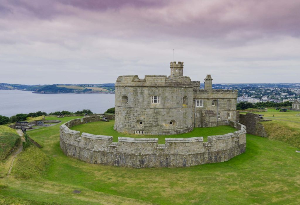 photograph of exterior of coastal castle