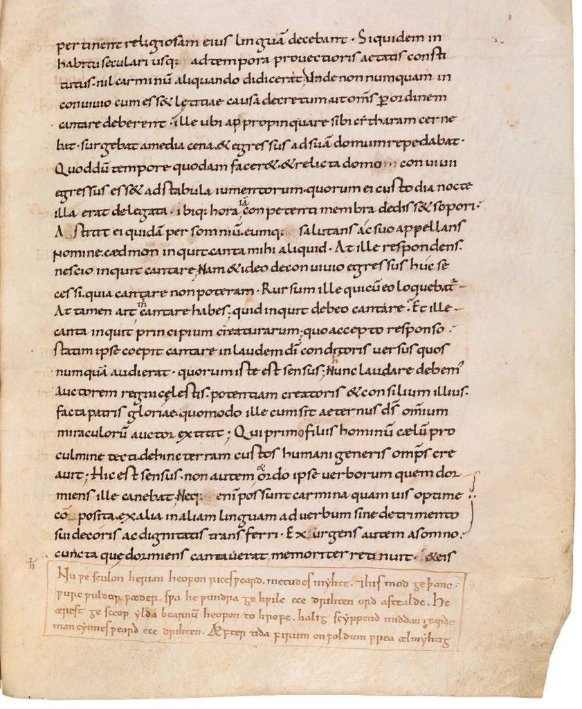 a photo of a page of Latin writing on a manuscript