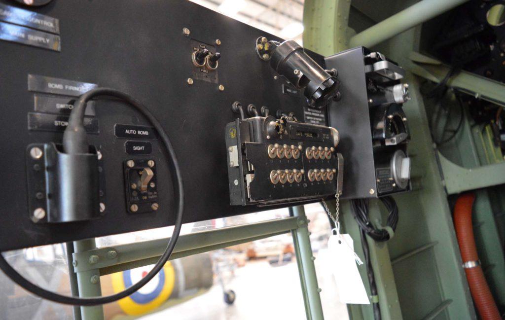 a photo of a bomb aimer's panel inside a Hampden bomber