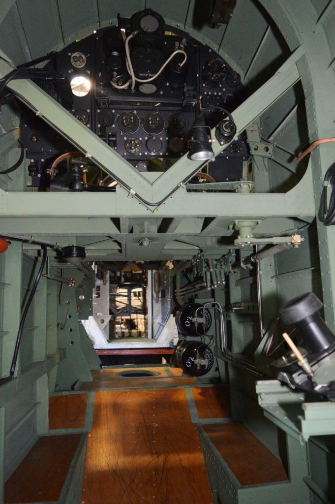 a shot inside a Hampden bomber fuselage