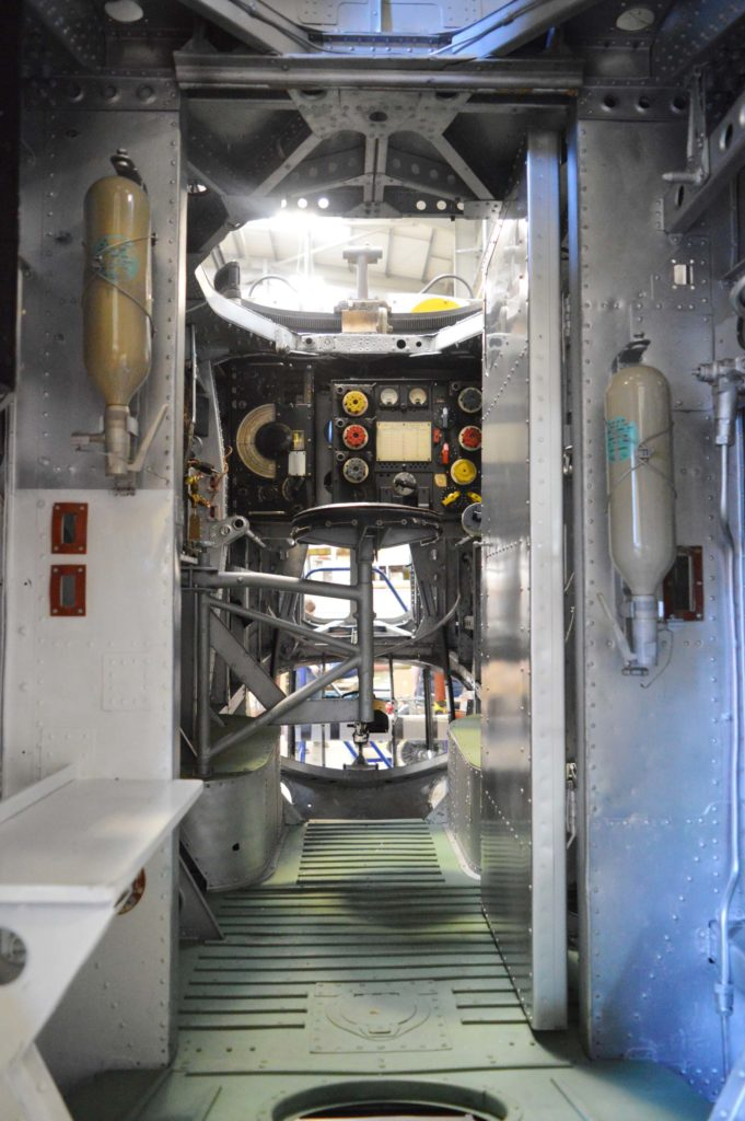 a photo of the inside of the fuselage of an aeroplane