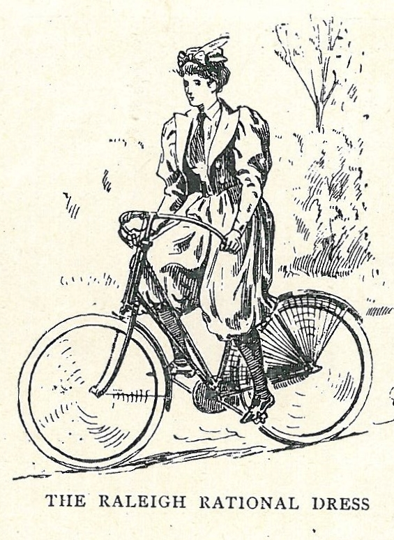 an illustration of a woman riding a bicycle
