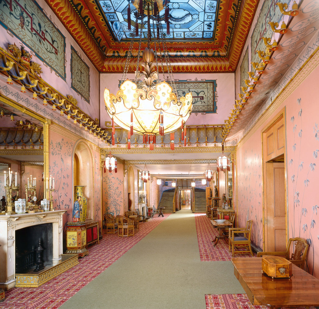 photograph of interior of grand regency palace