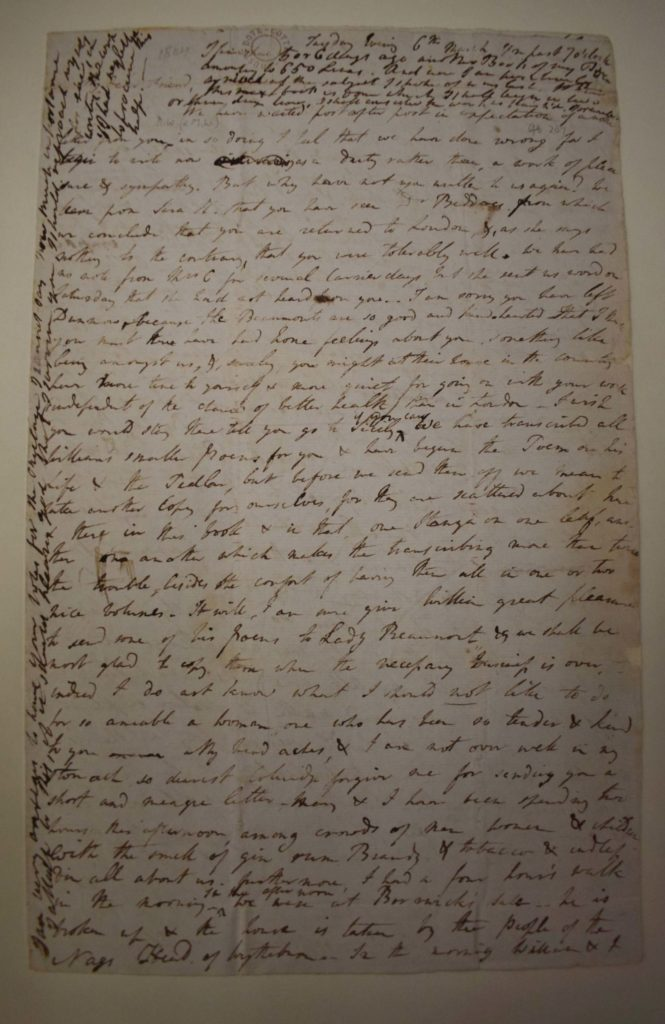a photo of a letter handwritten by three different people