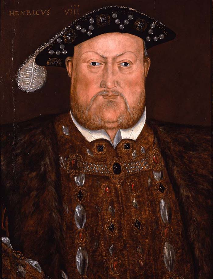 a painted portrait of Henry VIII