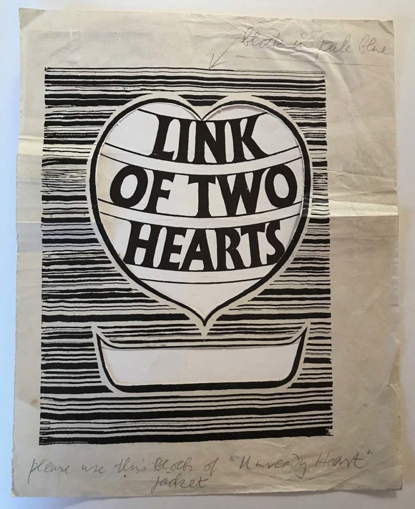 a photo of a book design called link of two hearts